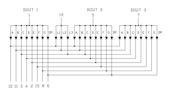 3 Digit Display Schematic