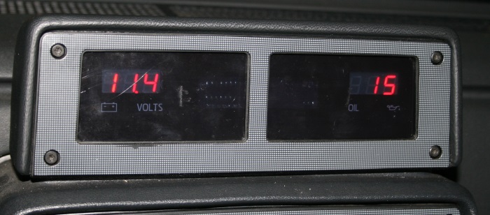Digital gauges in the car